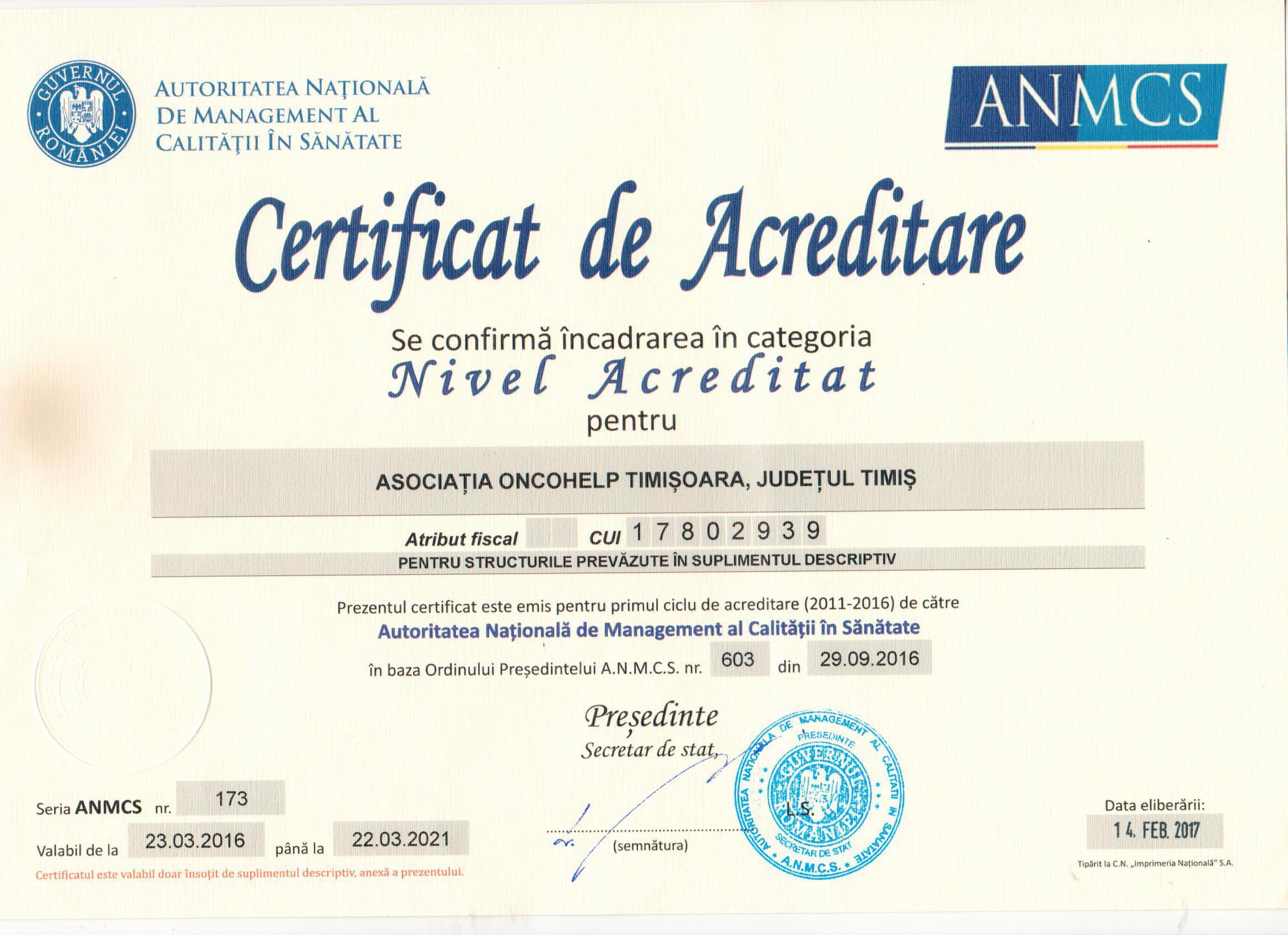 Certificat de acreditare 1
